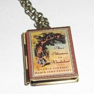 Jewelry - New Alice in Wonderland Book Locket Necklace